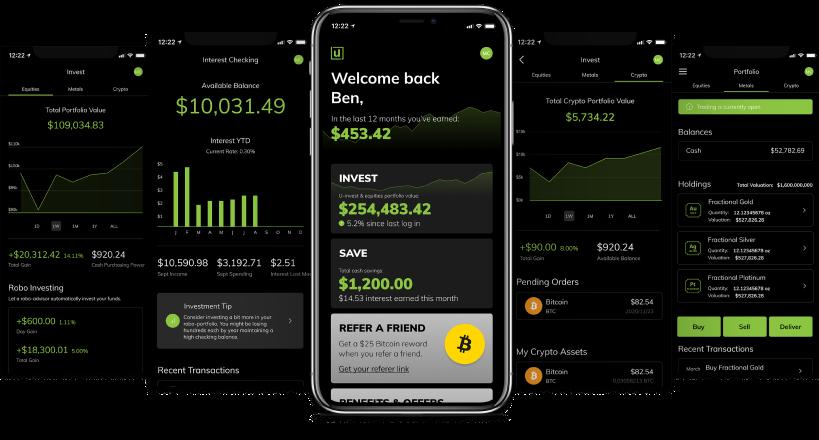 Iphone with Unifimoney app screenshots