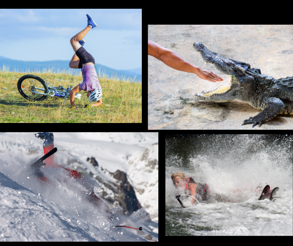 Collage of dangerous accidents