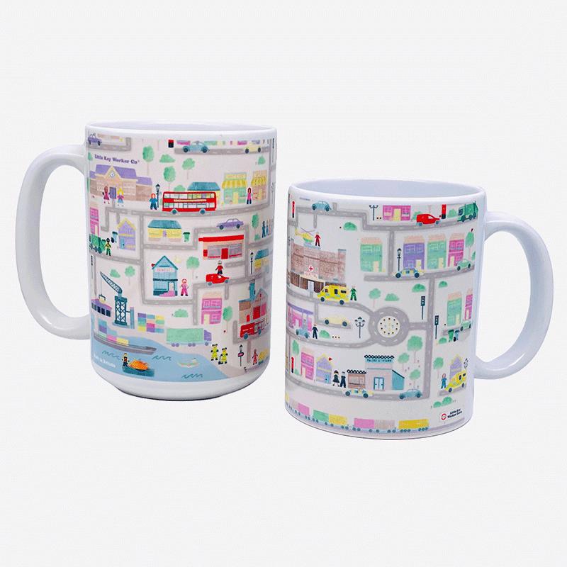 a photo of the 15oz and 11oz Town ceramic mug.