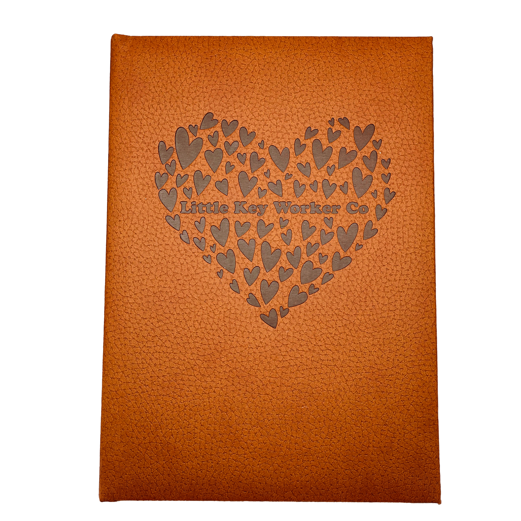 Beautiful Hearts Leather Notebook
