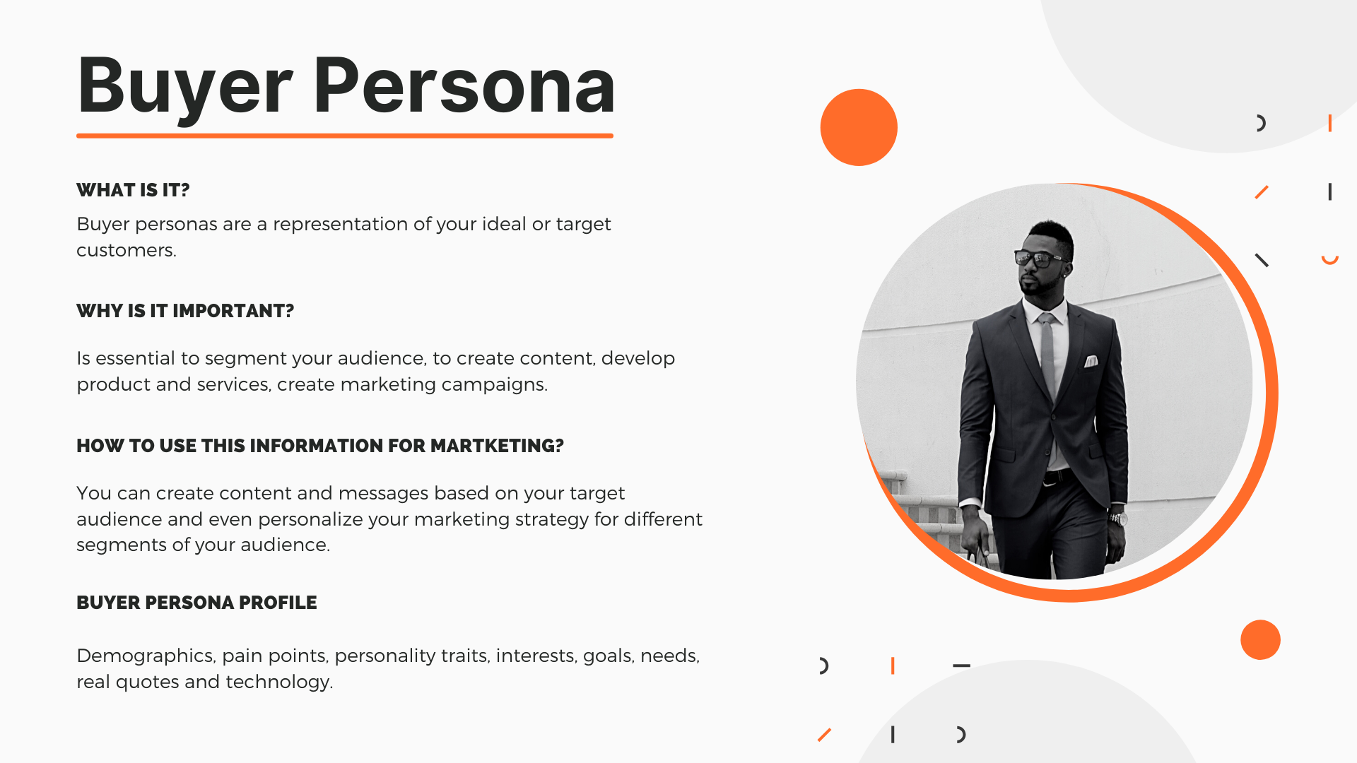 Buyer Persona Resume Banner