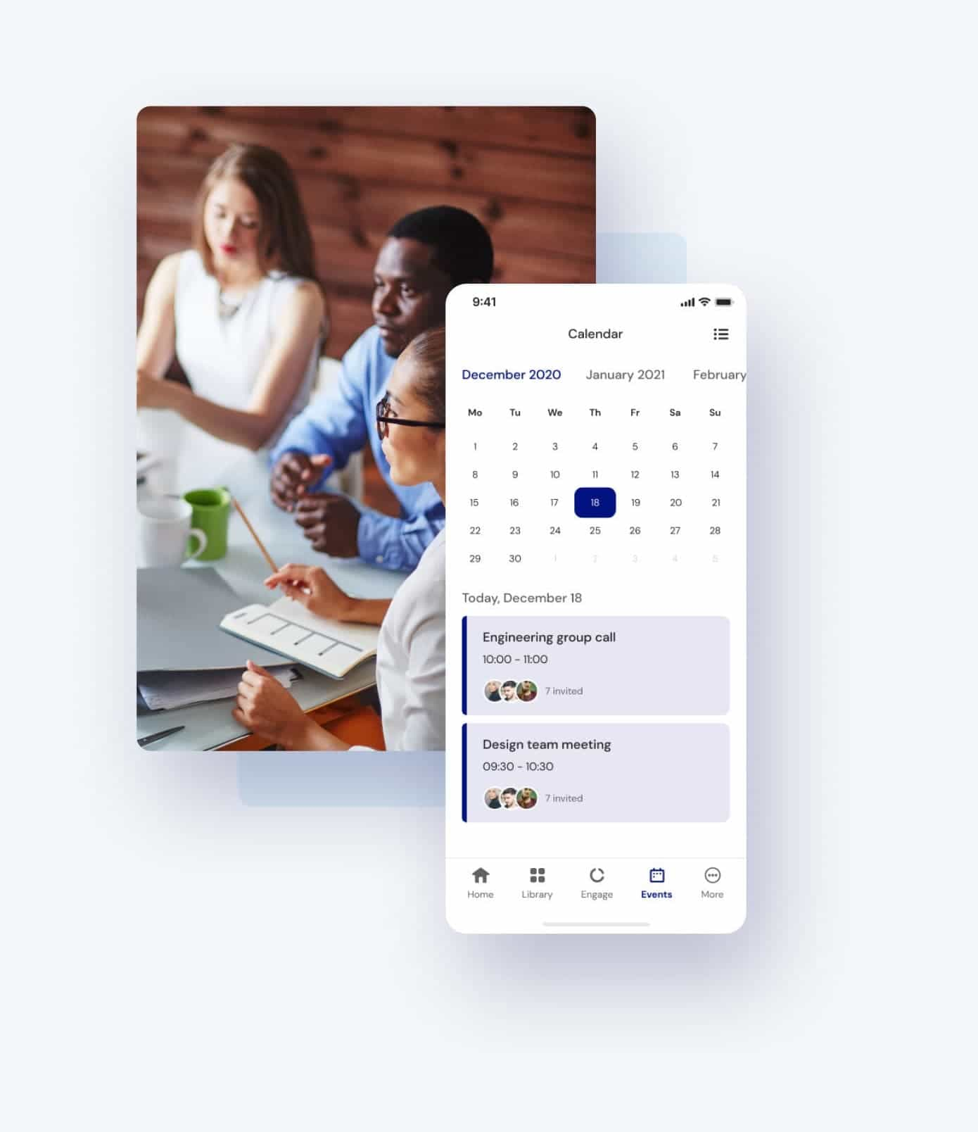 Qualee Employee Onboarding App - Centralised Calendar Feature