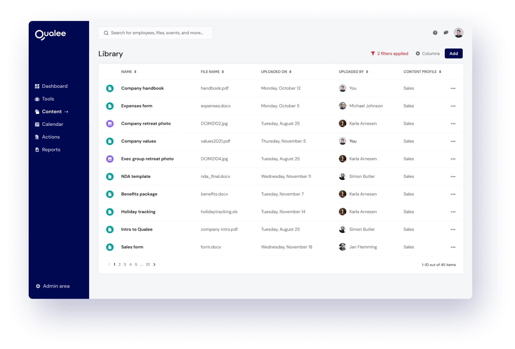 Library For Employee Onboarding Platform