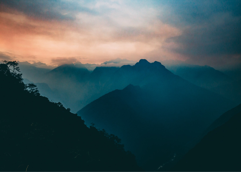 Image of dark mountain during dusk and Ketamine Treatment
