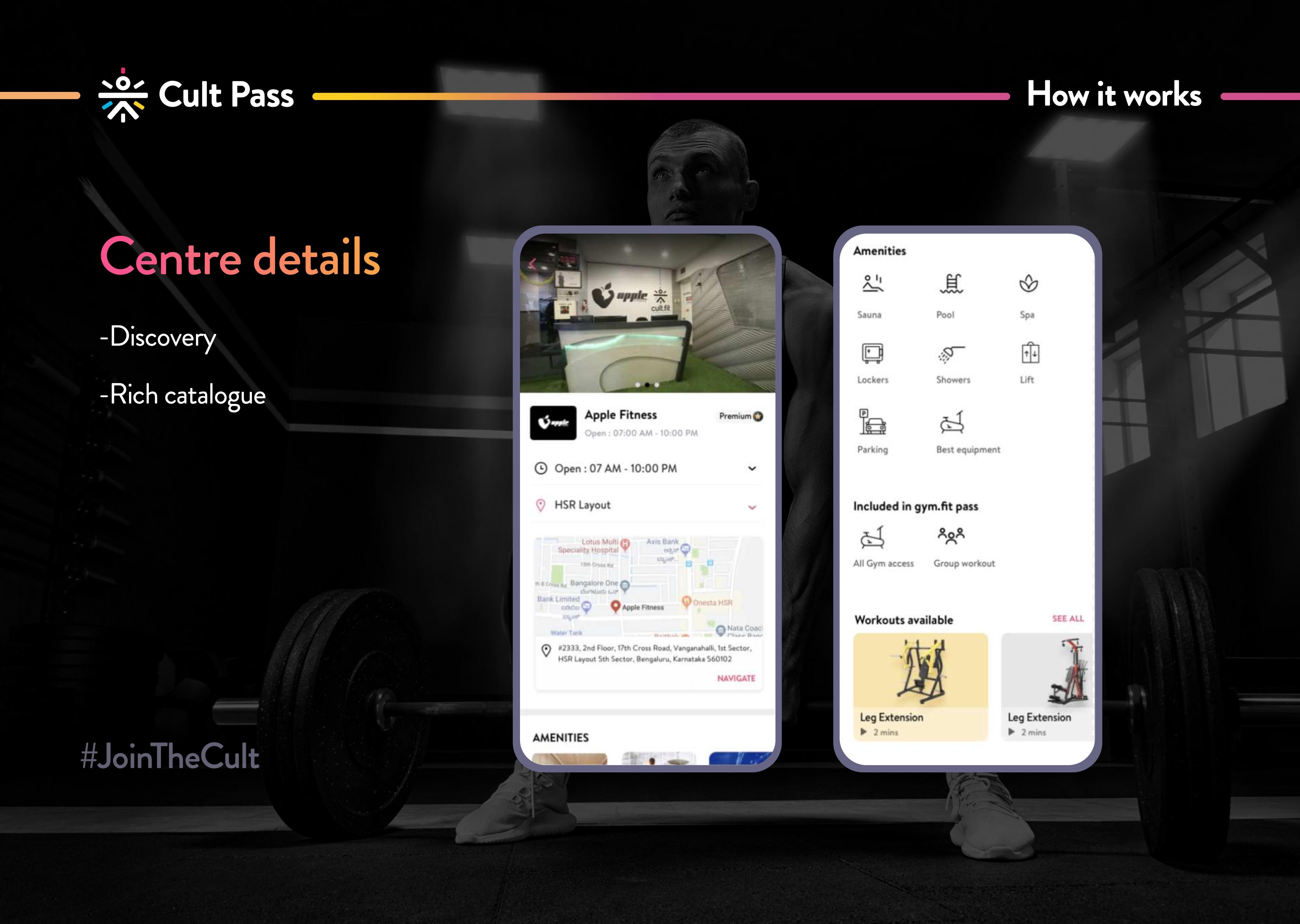 cult pass app screen