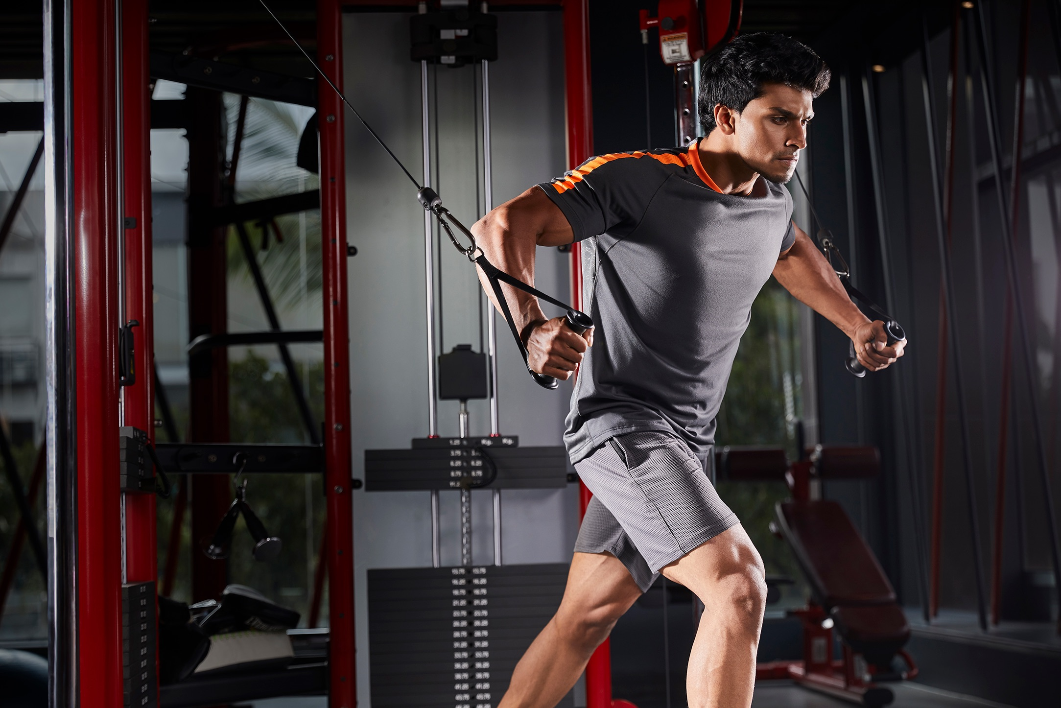 Cult pass member working out inside gym