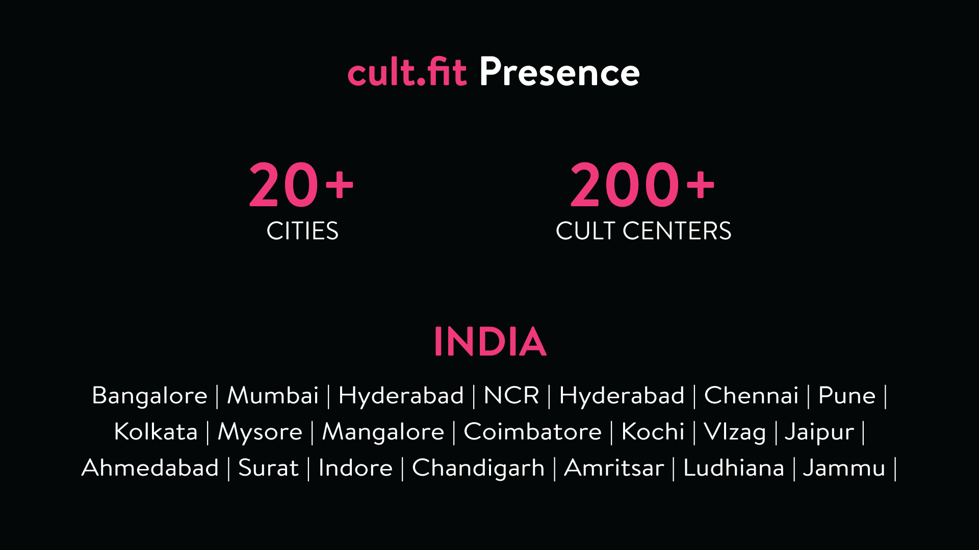 cult presence 20 cities 200 centers