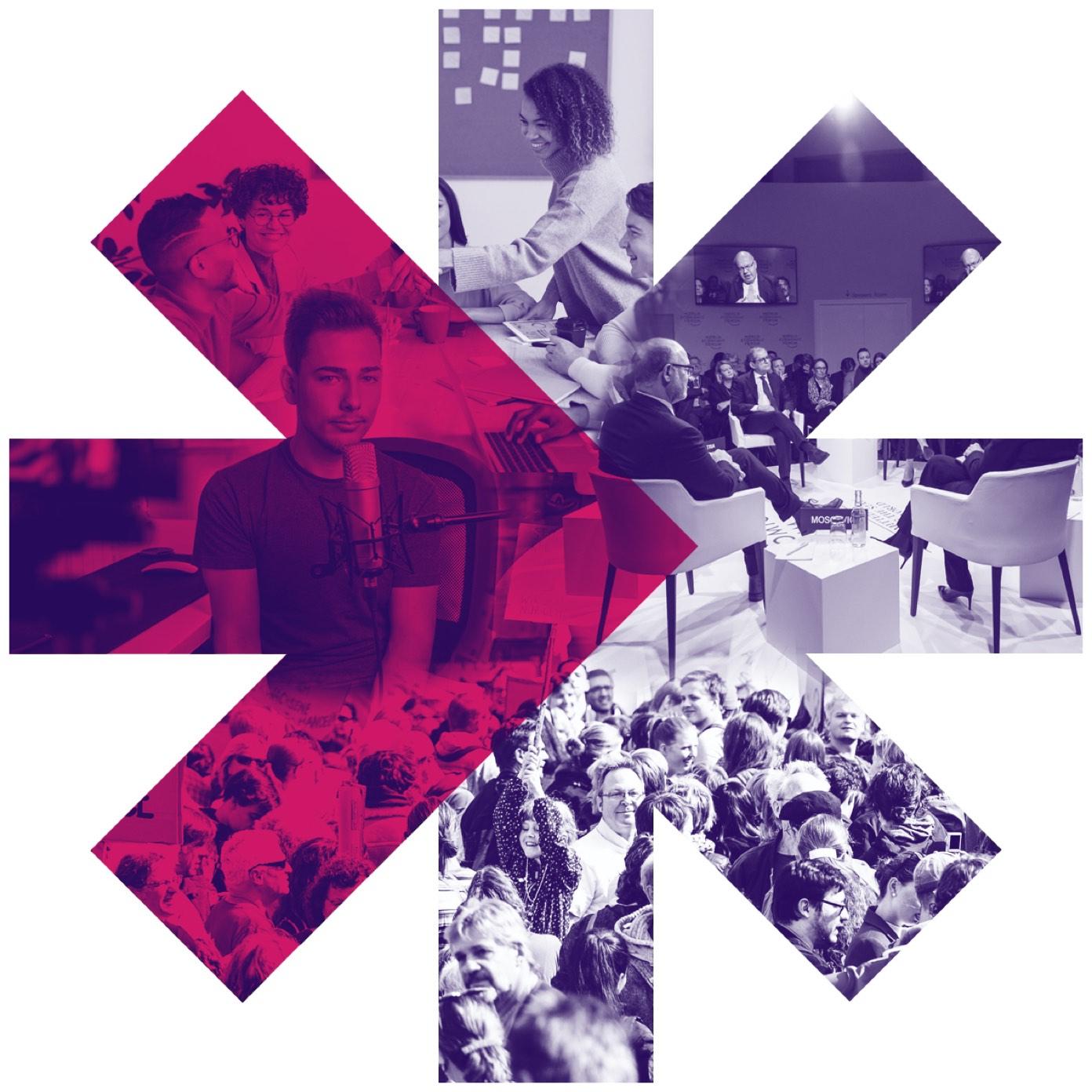 JoinPolitics Logo gefüllt mit Bildern