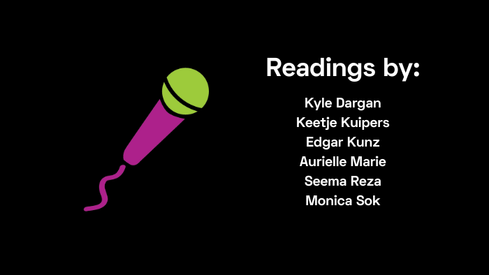 Readings by Dargan, Kuipers, Kunz, Marie, Reza, Sok