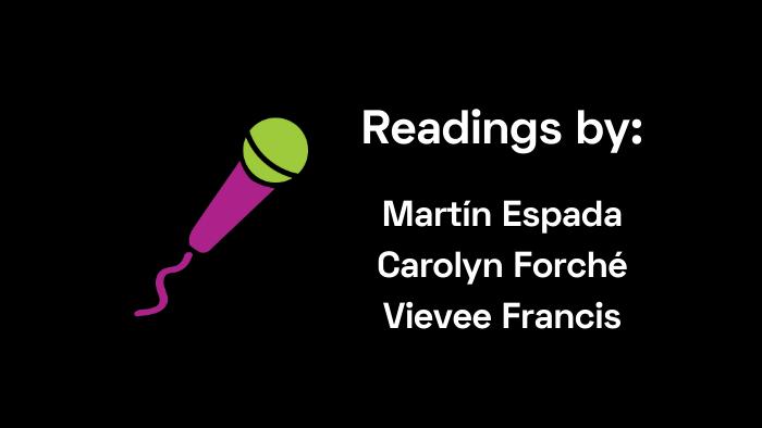 Readings by Espada, Forché, Francis