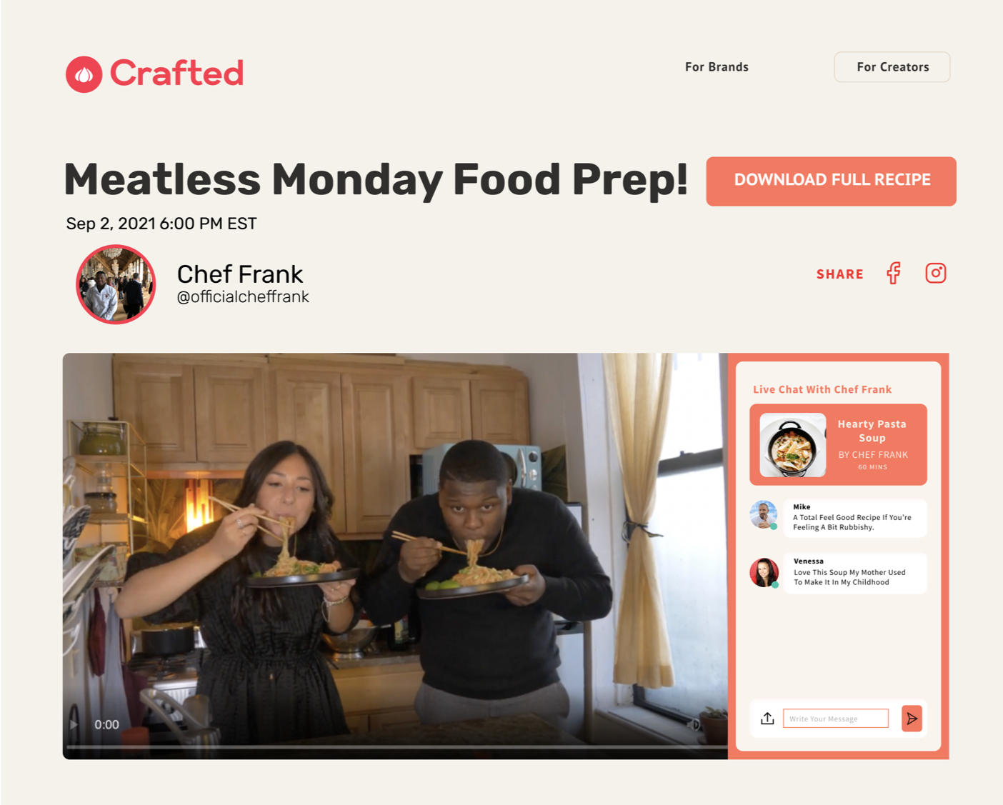 Build a cooking community of superfans