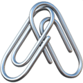 Linked paperclips emoji