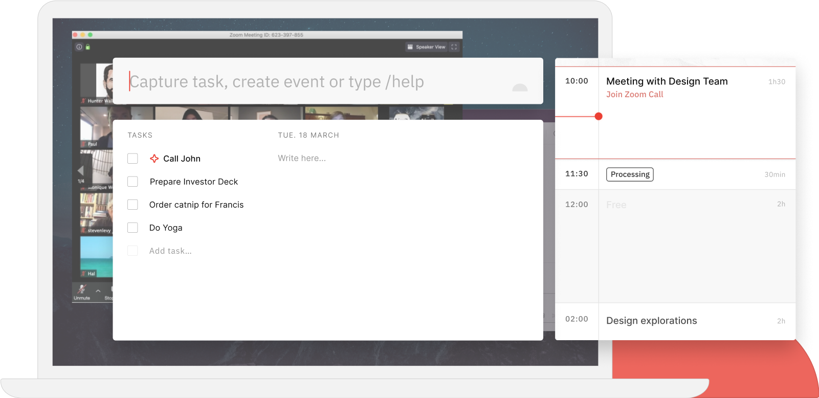 Join meetings with the Routine Dashboard