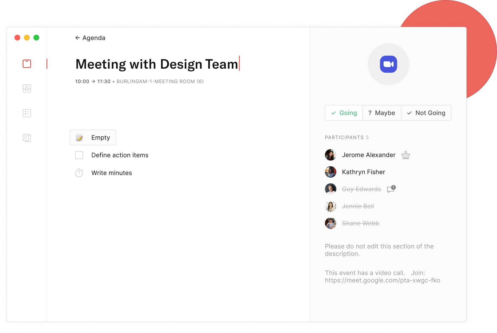 Take meetings notes with the Routine app