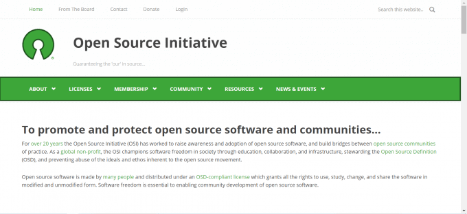 web open source html frontend