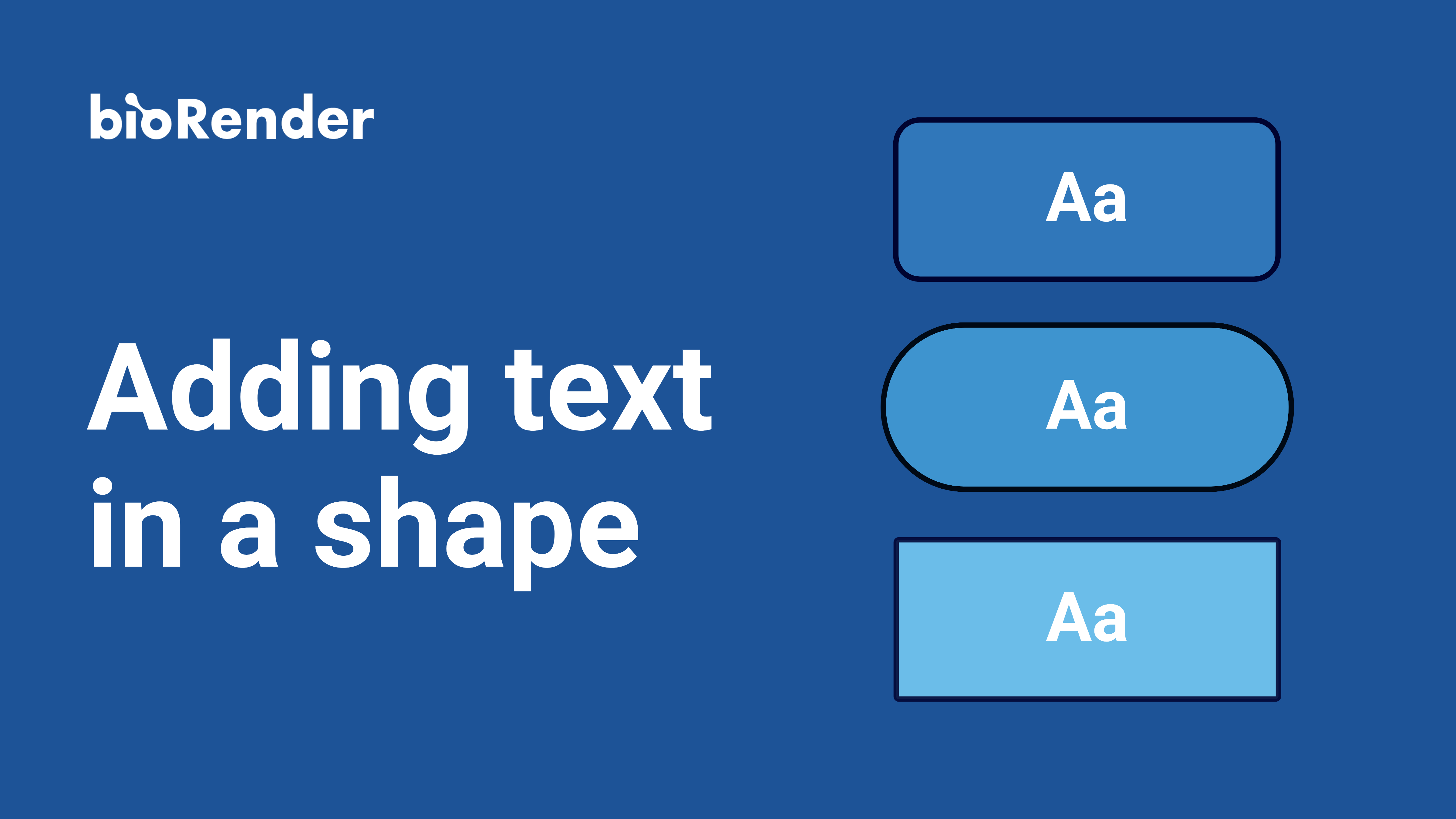 Adding text in a shape