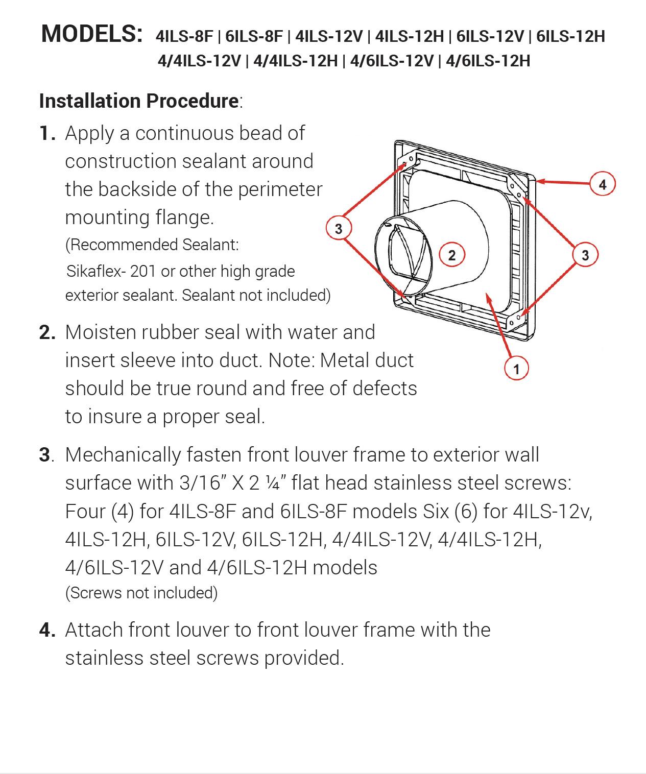 ILS Series Instructions