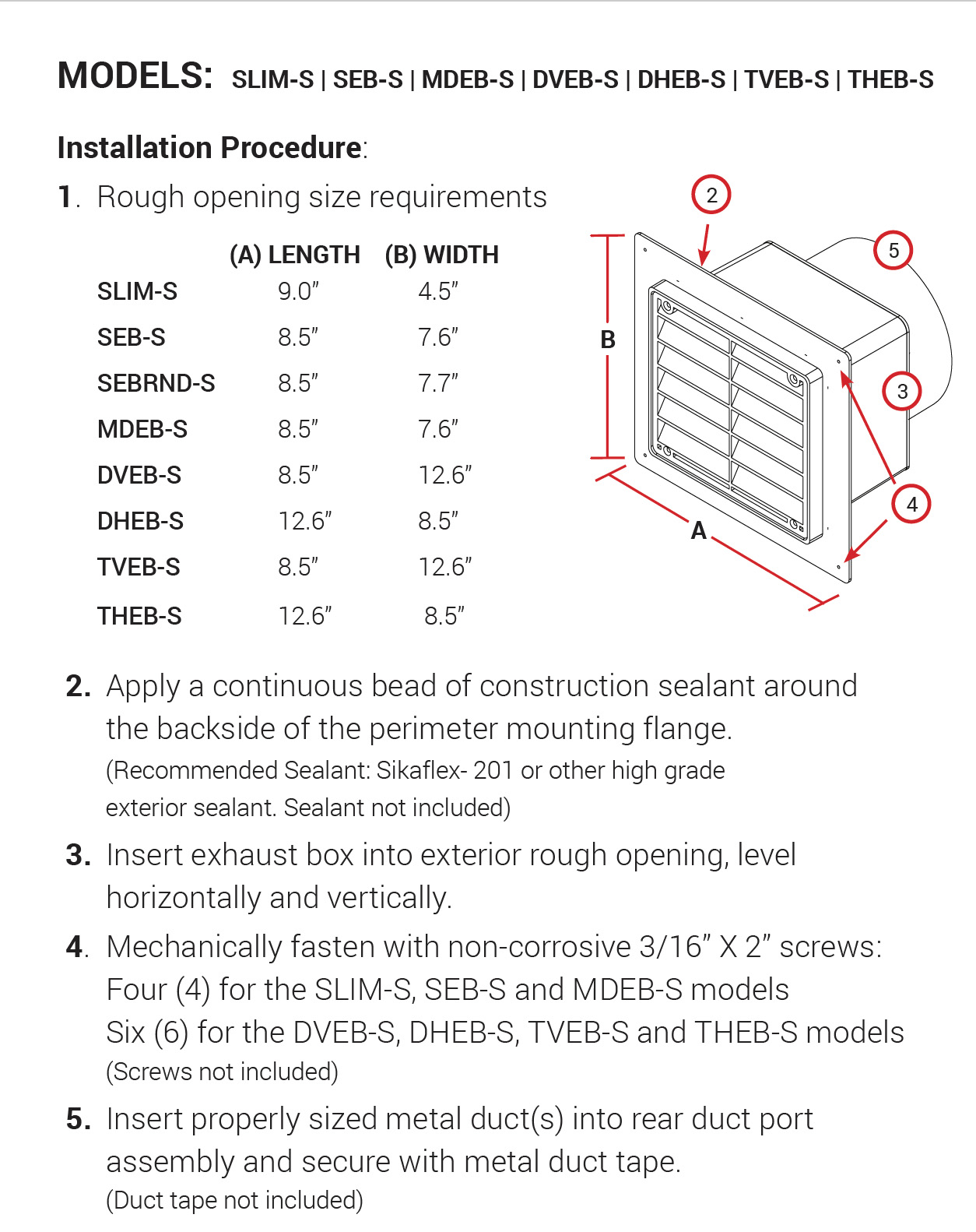 S Series Instructions