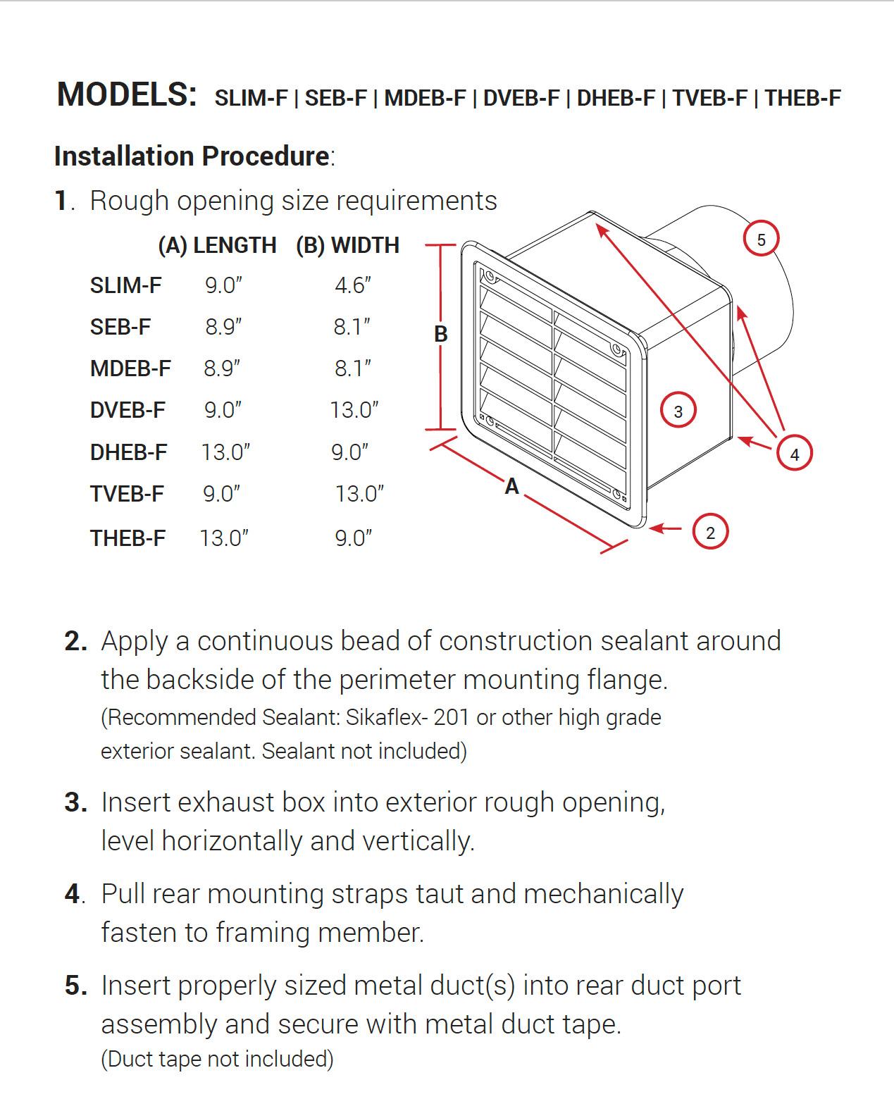 F Series Instructions