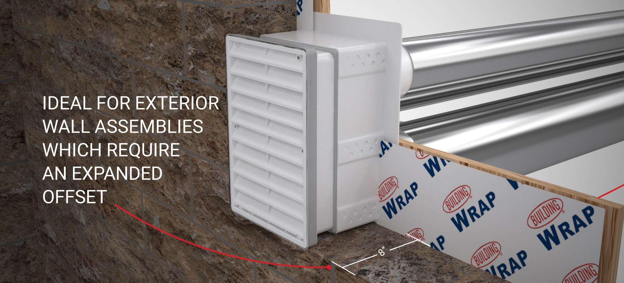 Ideal for Exterior wall assemblies which require an expanded offset