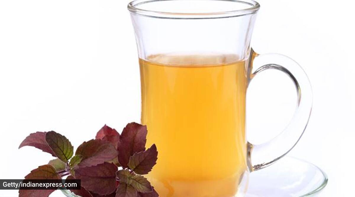 A glass of herbal drink