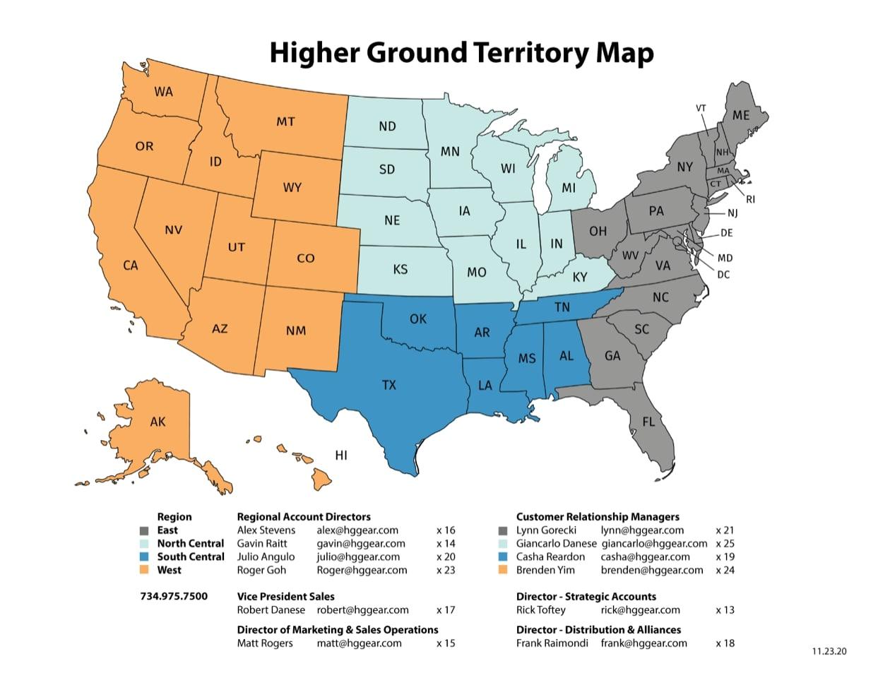 Higher Ground Territory Map