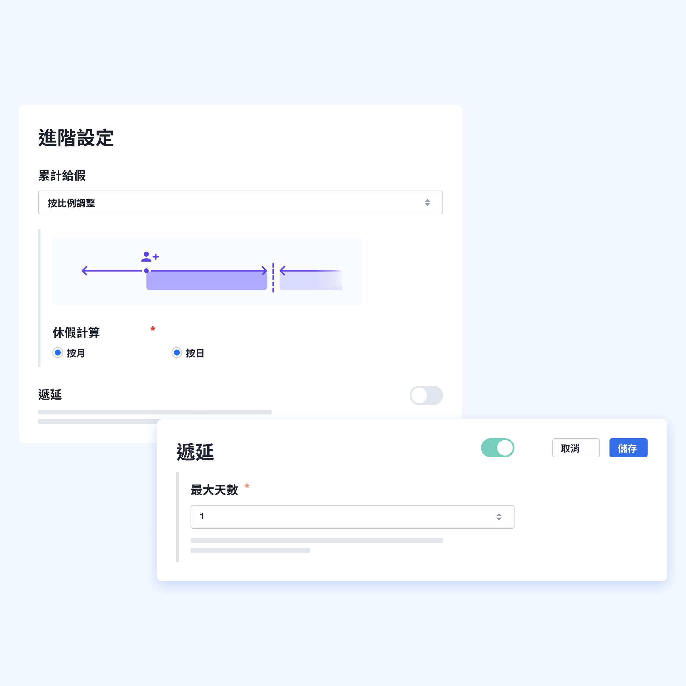 Swingvy雲端人資系統能自動更新休假餘額,更符合台灣勞基法一切規範。
