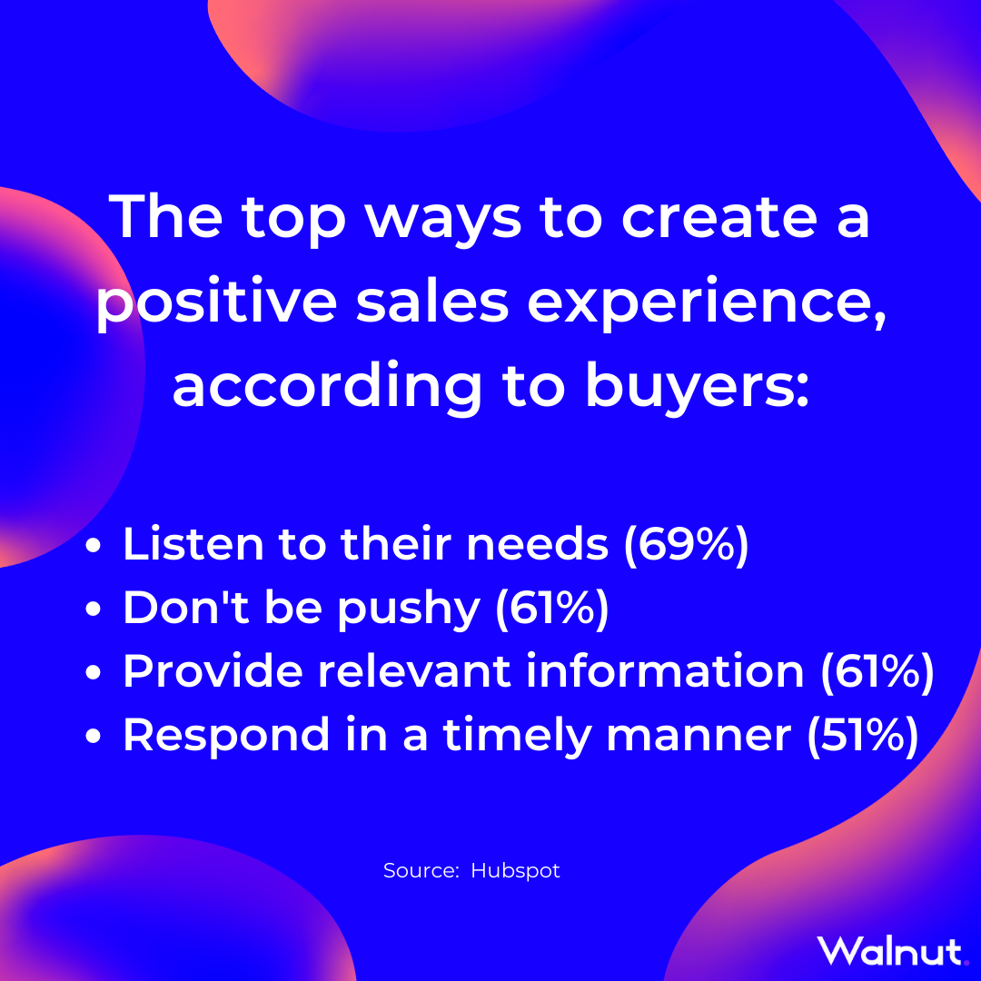 Sales Stats: Top ways to create positive sales experience