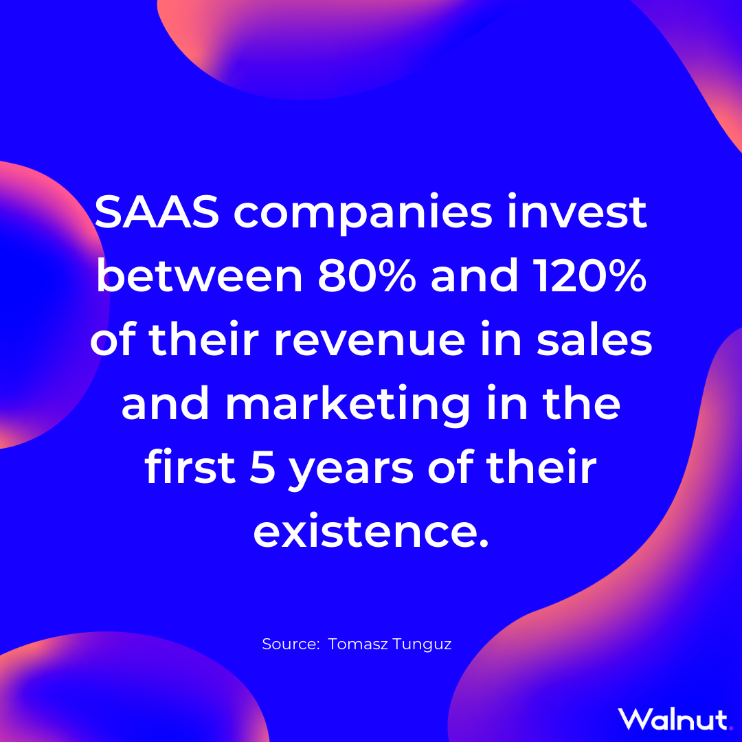 Sales Stats: SaaS companies marketing investment