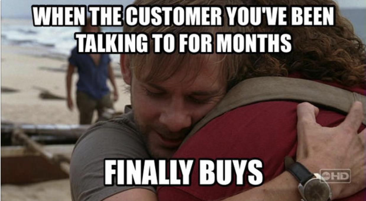 meme sales: customer responding