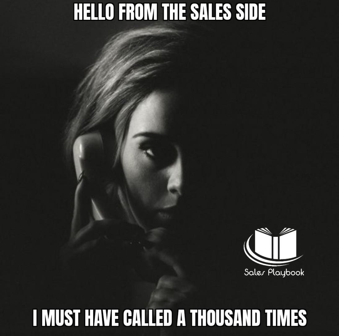 Meme sales: Calling clients - Adele