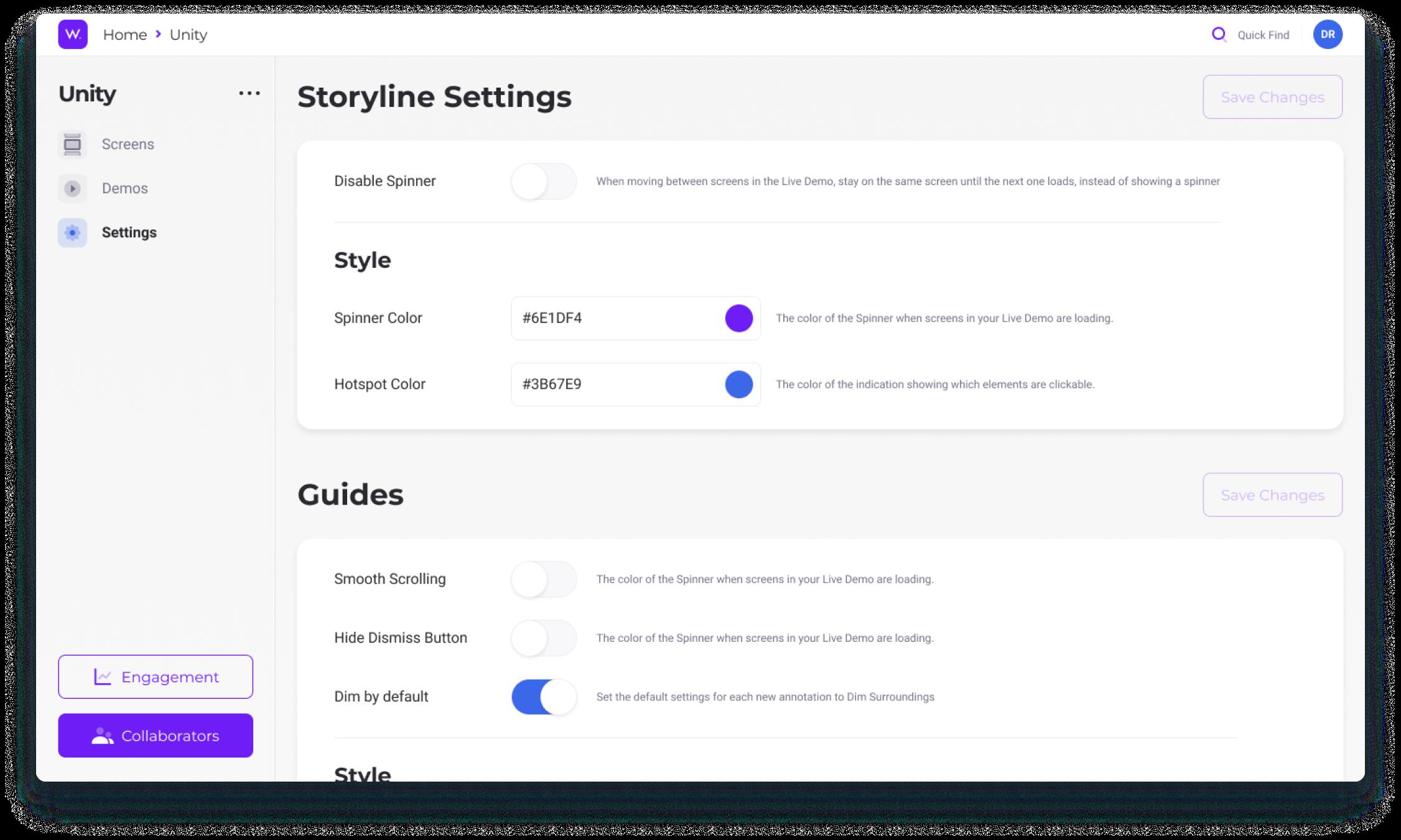 Storyline Settings - Walnut