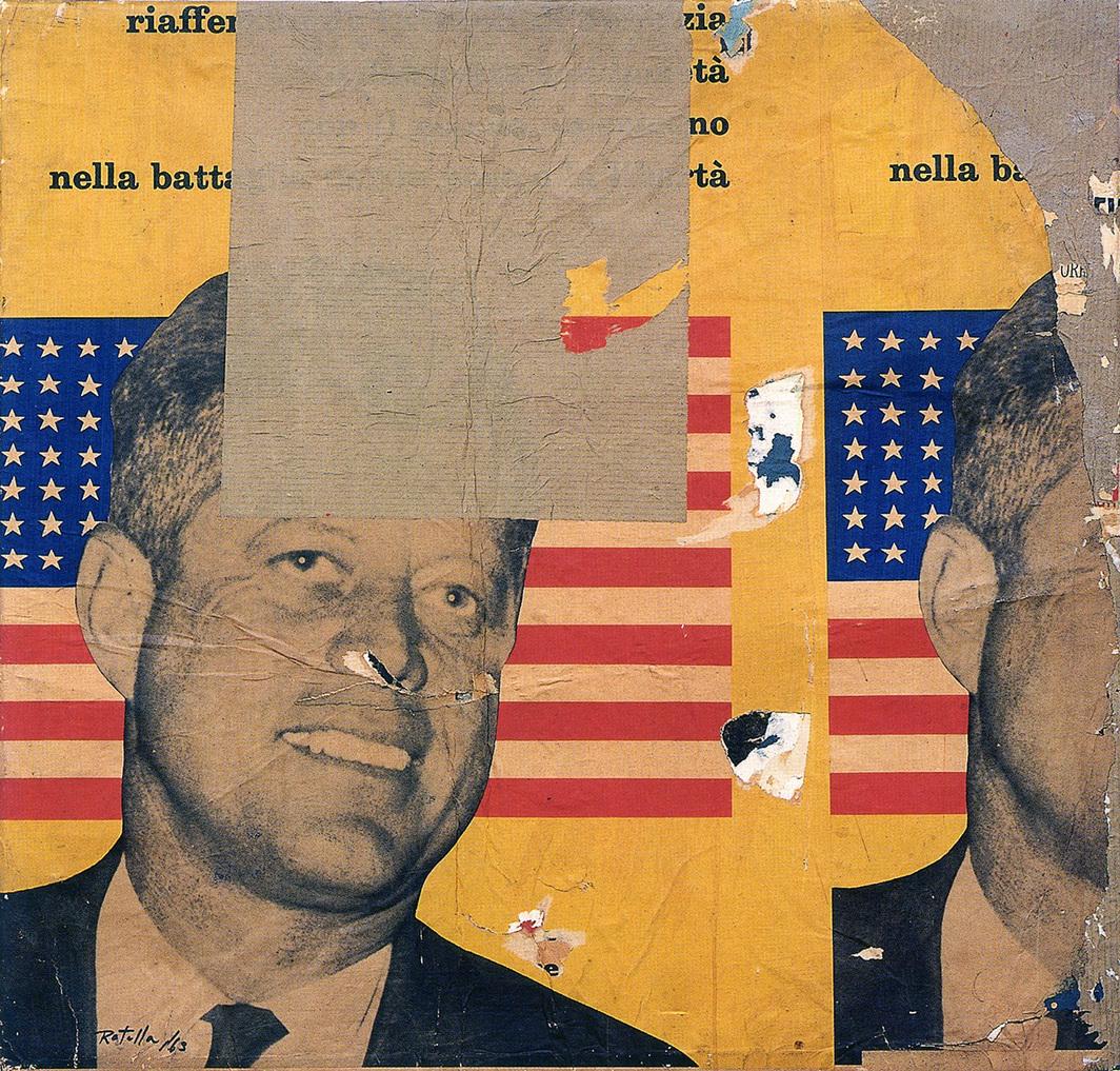Mimmo Rotella, Viva America, 1963