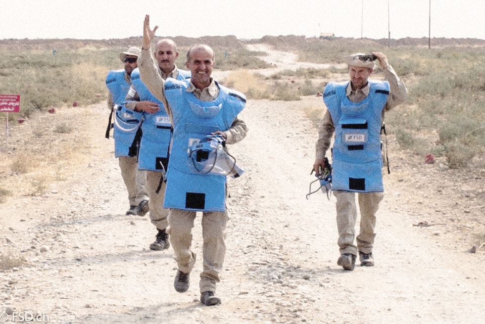 3 deminers back from the minefields