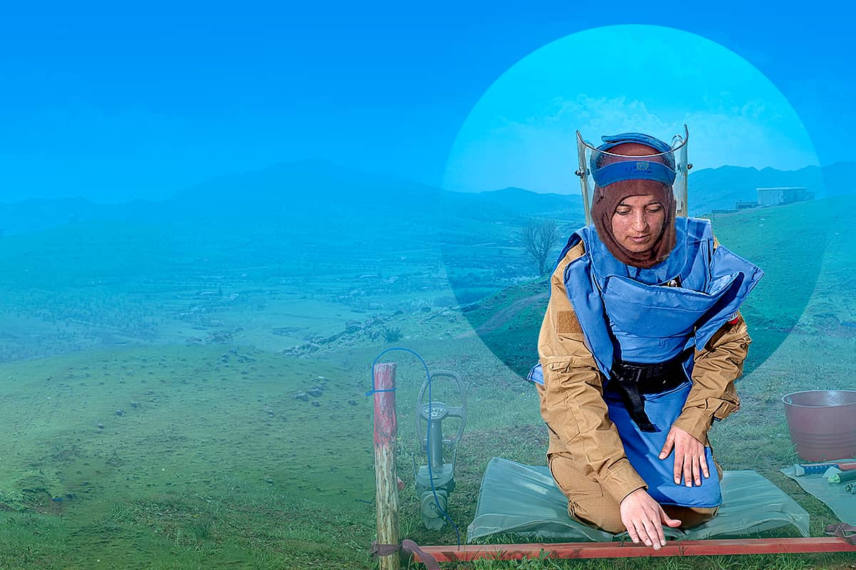 femme démineur en irak