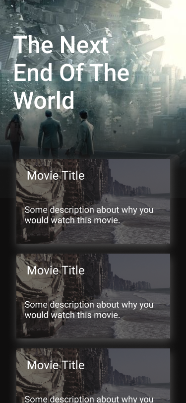 Movies Lander on Handset