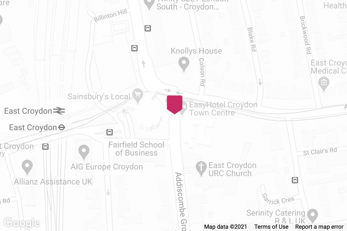 Giroux HR Croydon map