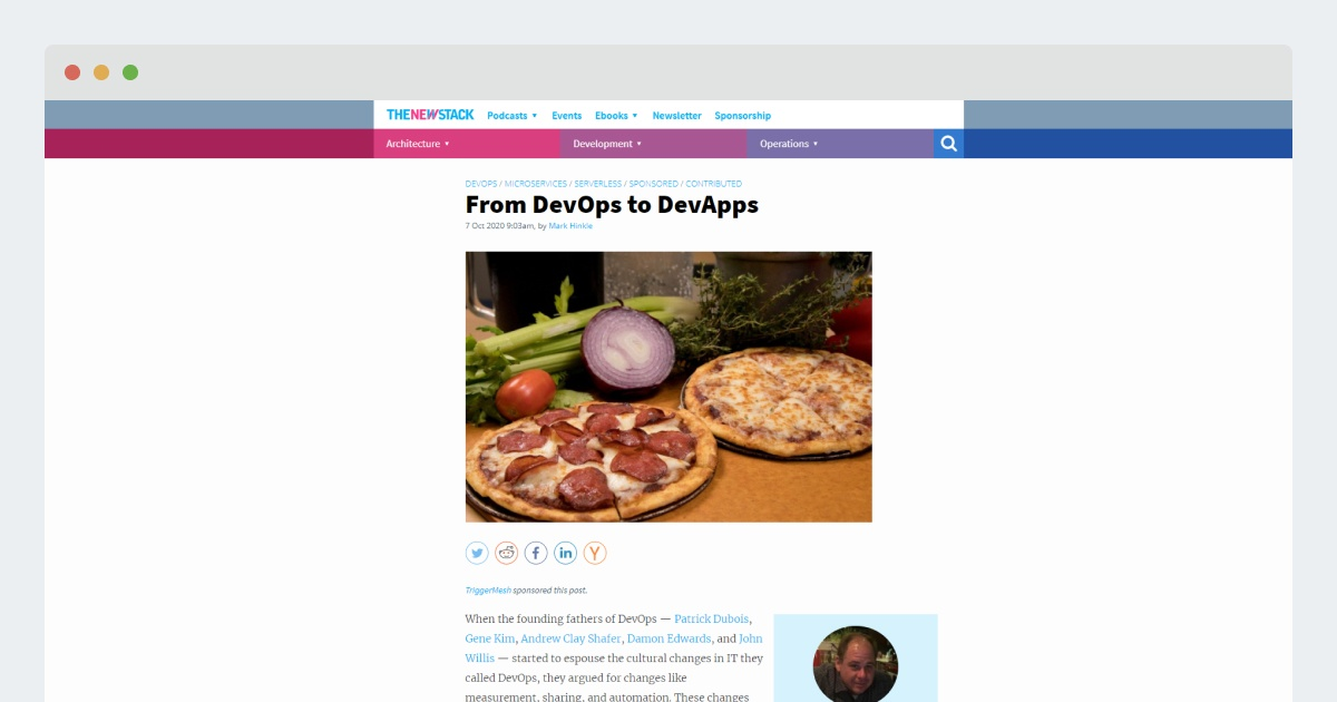 TheNewStack – From DevOps to DevApps