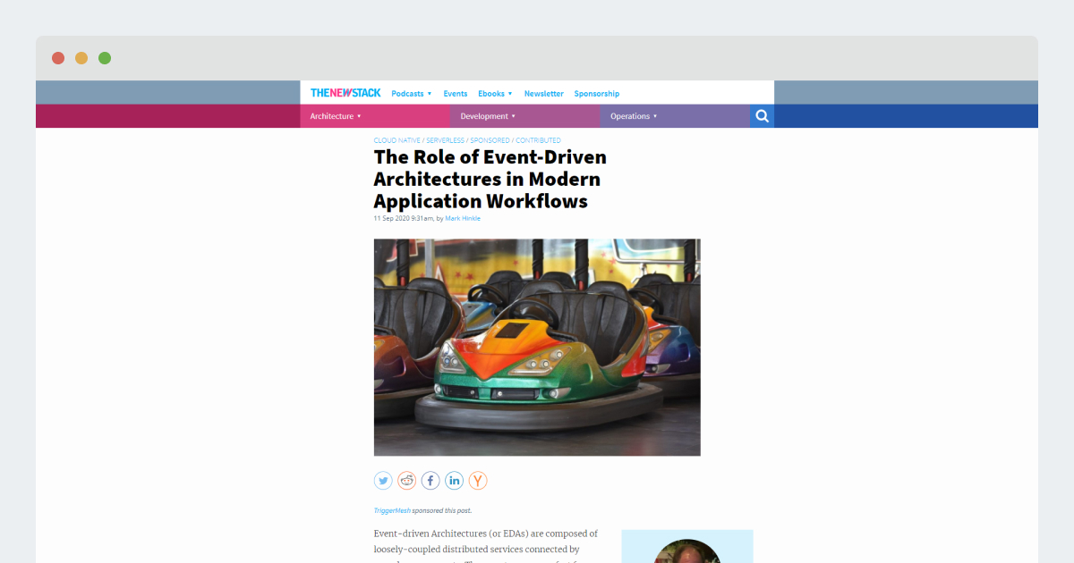 TheNewStack – The Role of Event-Driven Architectures in Modern Application Workflows