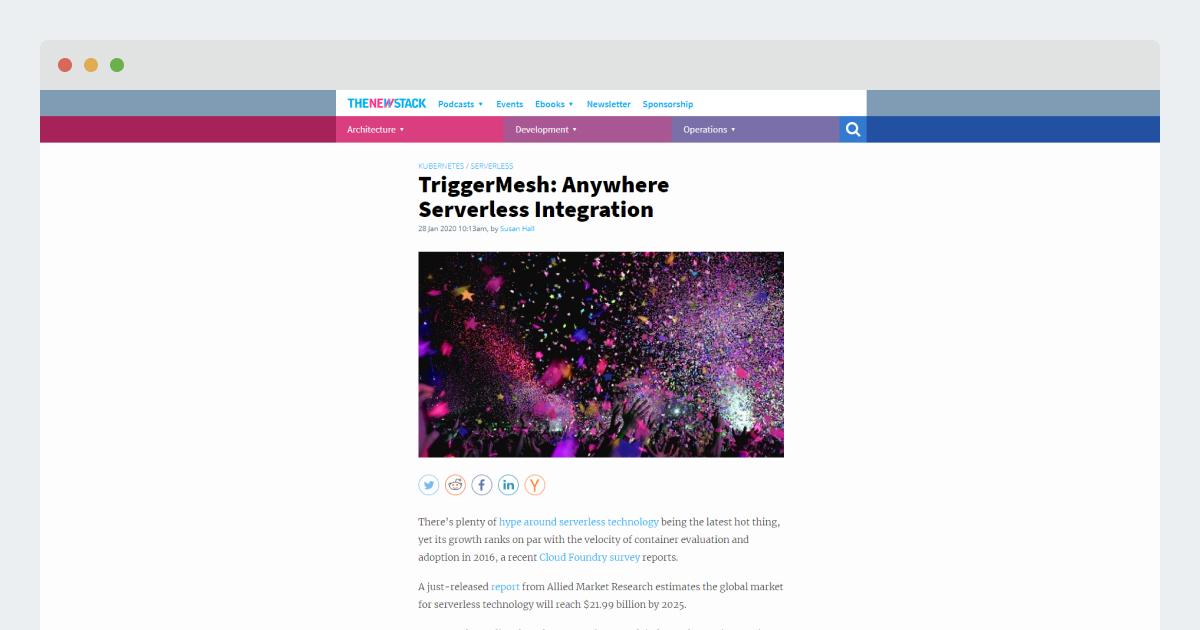 The New Stack – TriggerMesh: Anywhere Serverless Integration