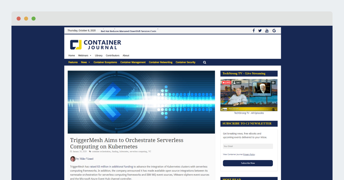 Container Journal – TriggerMesh Aims to Orchestrate Serverless Computing on Kubernetes