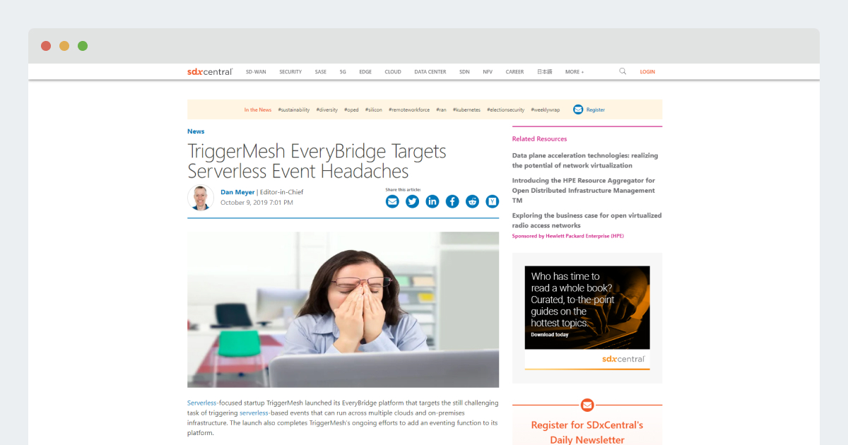 SDX Central – TriggerMesh EveryBridge Targets Serverless Event Headaches