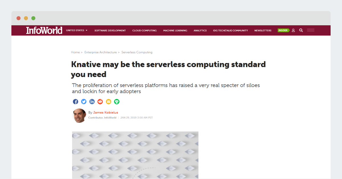 Infoworld – Knative may be the serverless computing standard you need