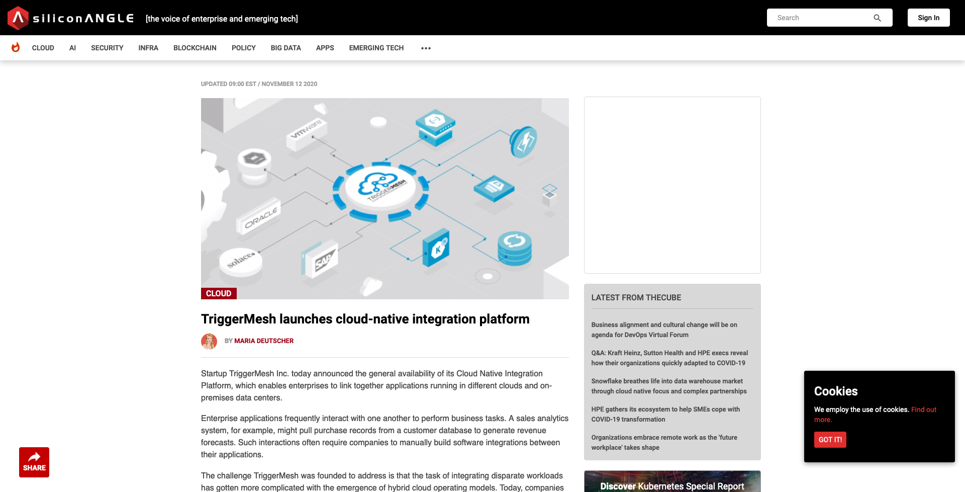 siliconangle-TriggerMesh launches cloud-native integration platform