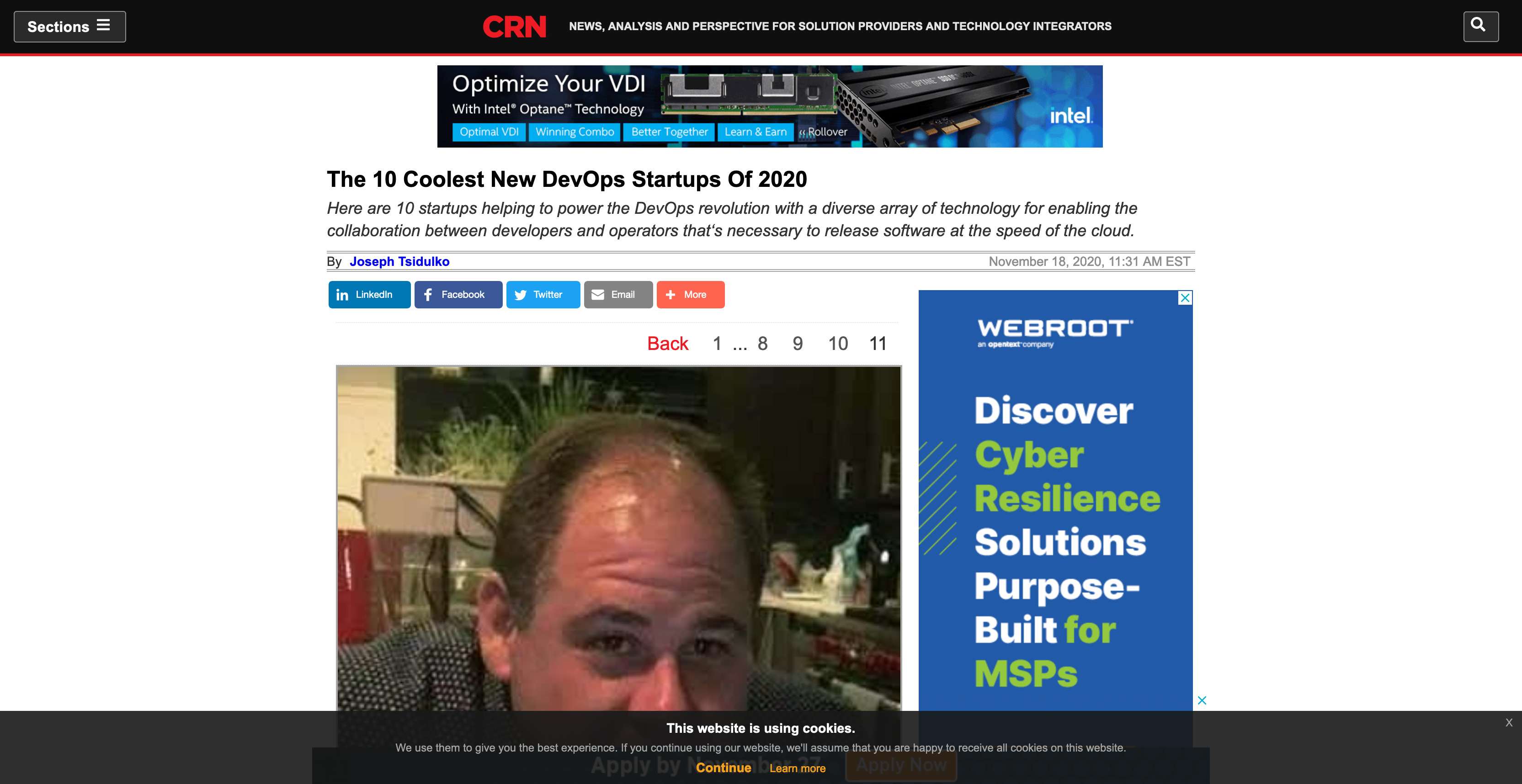 CRN - The 10 Coolest New DevOps Startups Of 2020