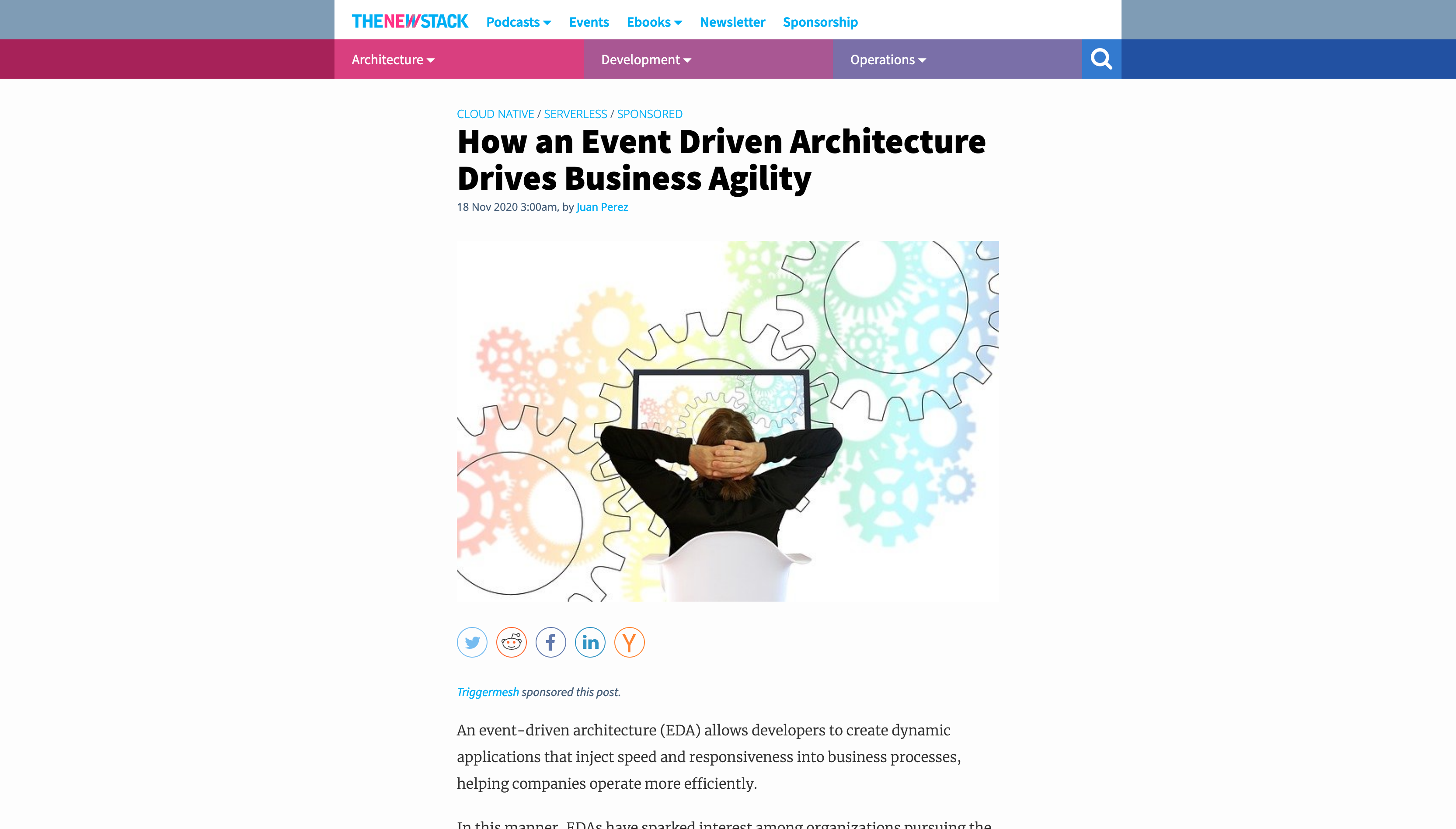 TheNewStack - How an Event Driven Architecture Drives Business Agility
