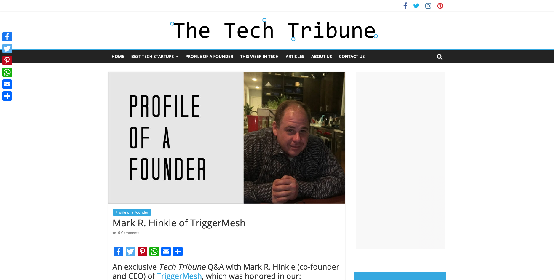 Tech Tribune Q&A with Mark R. Hinkle