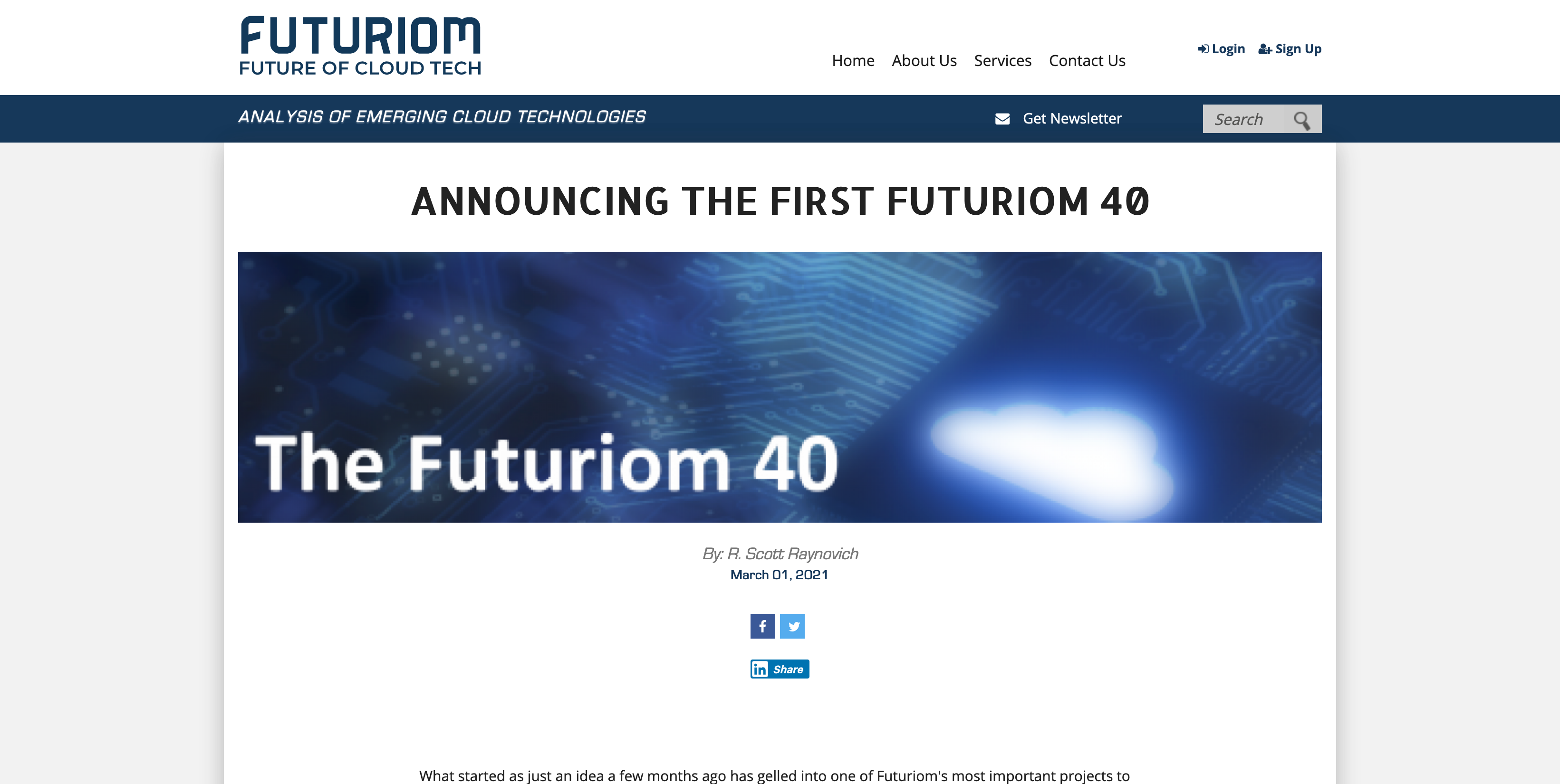 Futuriom - TriggerMesh Announced in First Futuriom 40