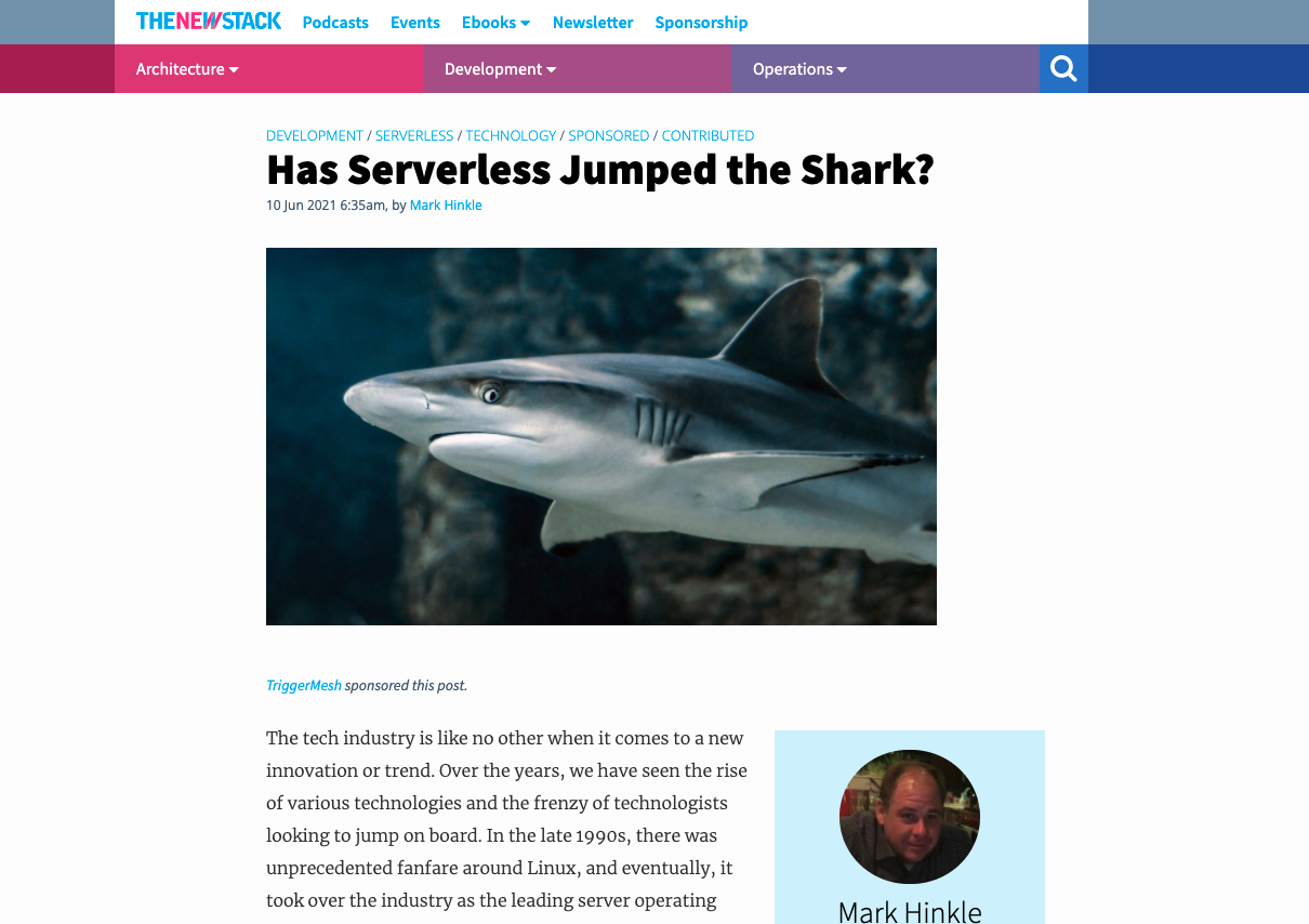 TheNewStack - Has Serverless Jumped the Shark?