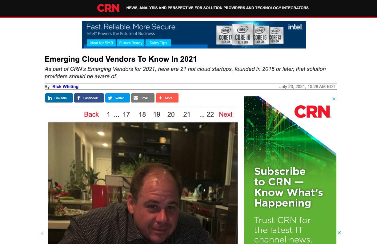 CRN - Emerging Cloud Vendors To Know In 2021